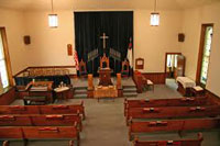 Inside a typical small Christian church